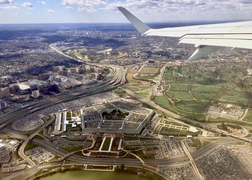 widok na Pentagon