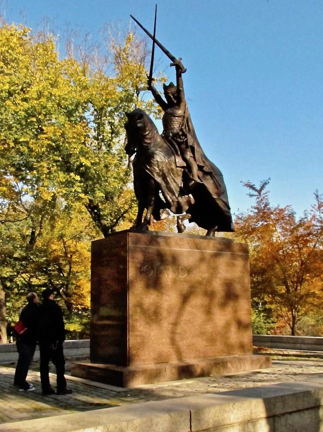król Jagiełło w Central Parku