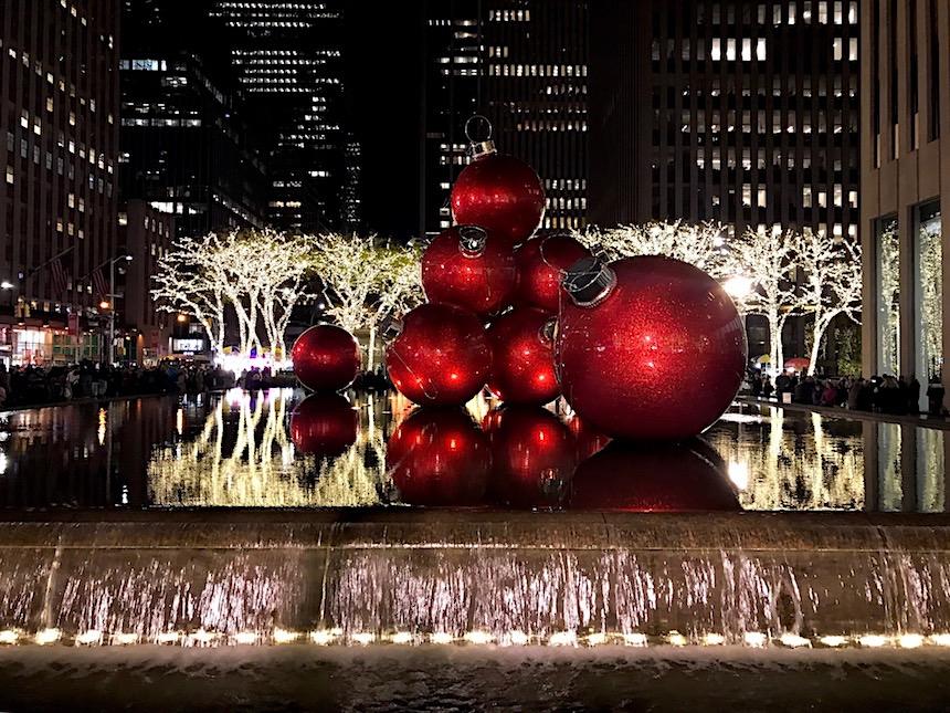 dekoracje świąteczne w Nowym Jorku