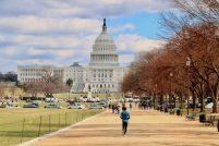 Spacer po National Mall w Waszyngtonie