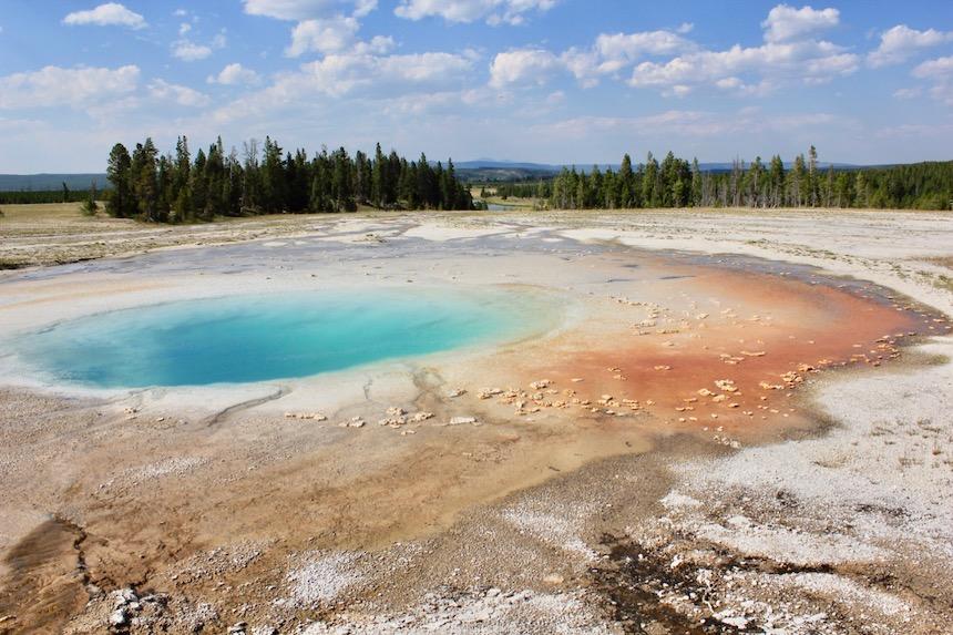 Park Yellowstone, najstarszy park narodowy na świecie.
