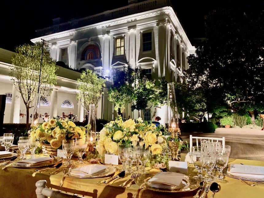 State Dinner, eleganckie przyjęcie w Białym Domu