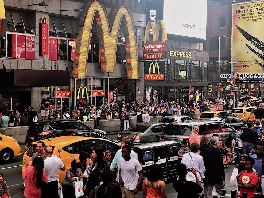 Ludzie na Times Square