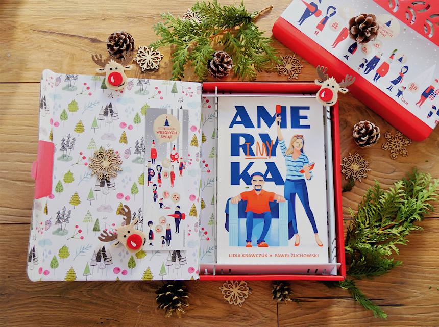 Książka Ameryka i my w świątecznym opakowaniu